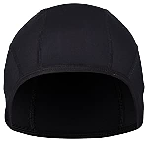 Skull Cap and Quick Drying Helmet Liner for Winter and Summer- Best for Bicycle, Motorcycle, Hiking, Running, Snowboarding, Skiing and Other Outdoor Activities - Unisex, Women Men Children (Black) by GearTOP