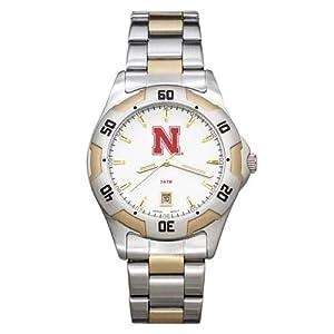 NCAA Nebraska Cornhuskers Mens All-Pro Two-Tone Watch by Logo Art