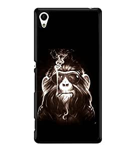 printtech Cool Monkey Glasses Smoke Back Case Cover for Sony Xperia Z4 , Sony Xperia Z4 E6553