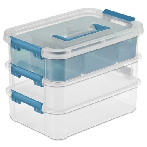 Buy Bargain Sterilite Stack & Carry Plastic Stackable 3 Tier Storage Organizer Box