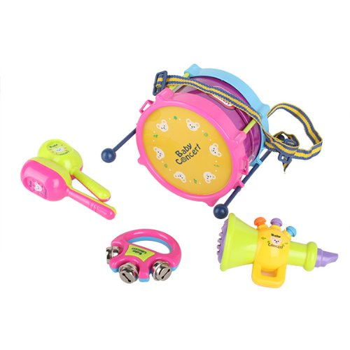 Cartoon Bear Drum Musical Instruments Kids Baby Educational Toy Set front-838243
