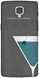 The Racoon Lean printed designer hard back mobile phone case cover for Oneplus 3. (Shaken, no)