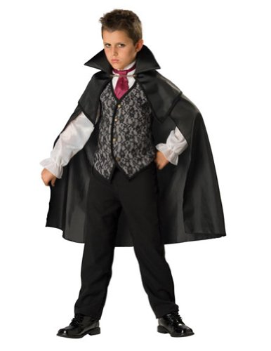 boys - Midnight Vampire Child 10 Halloween Costume - Child 10