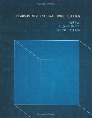 Optics: Pearson New International Edition