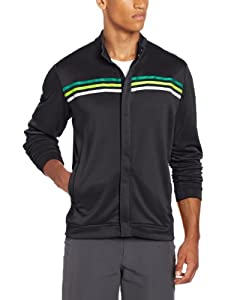 Adidas Golf Men's  Long Sleeve 3-Stripe Jacket男式运动外套,黑色$36.63