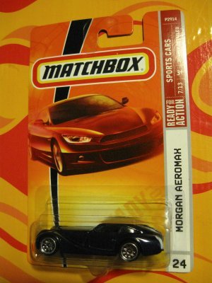 2008-2009 Matchbox MORGAN AEROMAX Sports Cars 7 of 13 #24 BLACK - 1