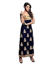 Styliner Latest Unstitched Salwar Suit(M19-08,Blue)