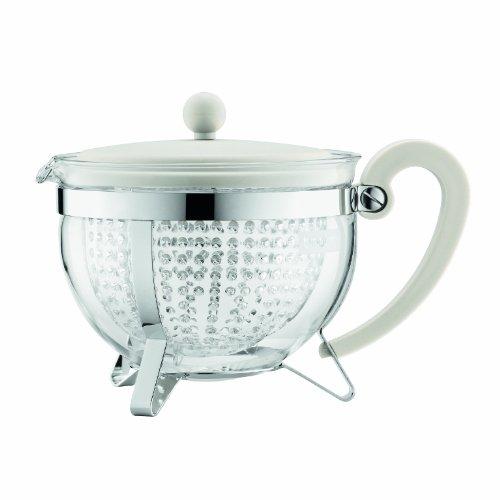 Bodum Chambord Tea Pot, 1.3-Liter, 44-Ounce, Off-White (Chambord Teapot compare prices)