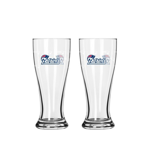 NFL New England Patriots Mini Pilsner, 2.5-ounce, 2-Pack (New England Patriots Party Ware compare prices)