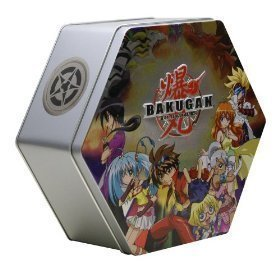Buy Low Price Spin Master Bakugan BakuTin Collectible Metal Case – Gray Figure (B002BUBVDM)