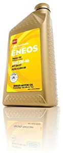 Eneos (3281300) API SN/ILSAC GF-5 Certified 5W-40 Fully Synthetic Motor Oil - 1 Quart Bottle by Eneos