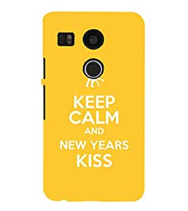 EPICCASE New year new love Mobile Back Case Cover For LG Nexus 5x (Designer Case)