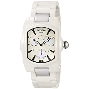Invicta Men's 6299 Lupah Collection White Corian Watch