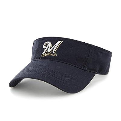 "Milwaukee Brewers ""Clean Up"" Navy Blue Visor Hat - MLB Baseball Golf Cap"