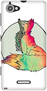 The Racoon Grip Foxy Vixen hard plastic printed back case / cover for Sony Xperia L