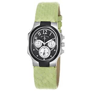 Philip Stein Women's 22TB-FB-SMLG Classic Light Leather Strap Black Dial Watch