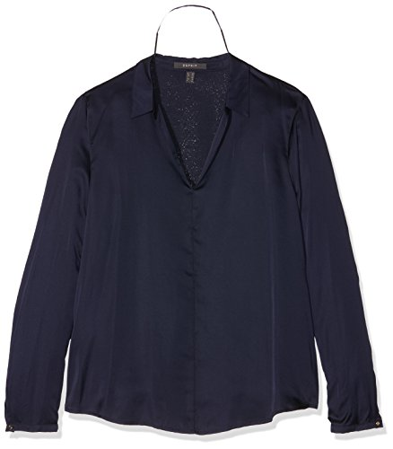 ESPRIT Collection 106EO1F013, Camicia Donna, Blu (Navy), 42