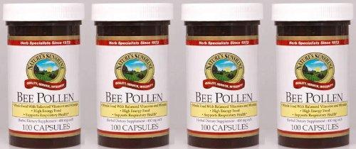Naturessunshine Bee Pollen Herbal Dietary Supplement 100 Capsules (Pack Of 4)