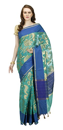 Banarasi-Silk-Works-Womens-Cotton-Banarasi-Saree-Green