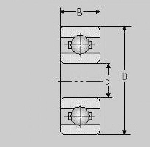 Miniatur Kugellager S626 ZZ, 6x19x6, S 626 ZZ