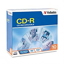Verbatim® CD-R Recordable Disc DISC,CD-R,52X,10/PK,SR (Pack of15)