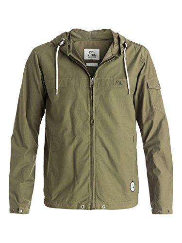 Quiksilver, Giacca Uomo Shoreline, Verde (Dusty Olive), L