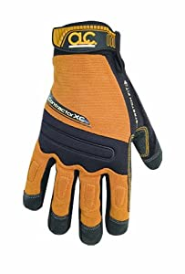 Custom Leathercraft 160L Contractor XtraCoverage Flex Grip Work Gloves, Large