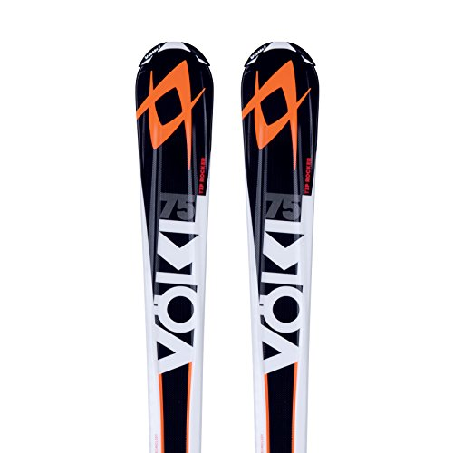 Volkl Rtm 75 Mens Skis With Bindings 166cm, 4motion 10.0