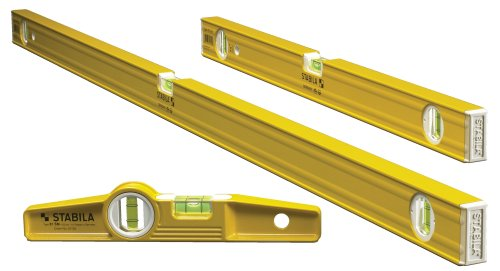Stabila 29824 - 3 Level Pro-Set Includes 48-Inch , 24-Inch and  Die-cast Torpedo with Rare Earth Magnets