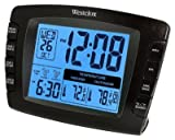 Westclox LCD Dual Alarm Clock with Wireless Outdoor Temperature Sensor 70034a