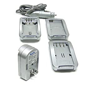 Maximal Power FC100 CAN Universal All In One Camera Travel Charger for Canon Battery (Silver)