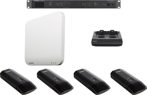 Shure Mxws4B/C Microflex Wireless 4 Channel Cardioid Boundary Micophone System