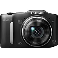 Canon PowerShot SX160 IS 16MP Point-and-Shoot Digital Camera (Black) with 4GB SDHC Card, Camera Case and Battery...