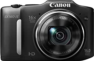 Canon PowerShot SX160 IS Digitalkamera (16 Megapixel, 16-fach opt. Zoom, 7,5 cm (3,0 Zoll) LCD) schwarz