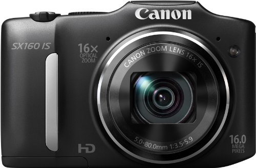 Canon Powershot SX160 IS ( 16.6 MP,16 x Optical Zoom,3 -inch LCD )