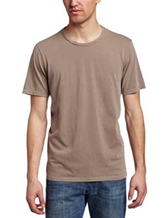 VELVET BY GRAHAM & SPENCER Men's Pigment Dyed Crew Tee, Soil, Medium