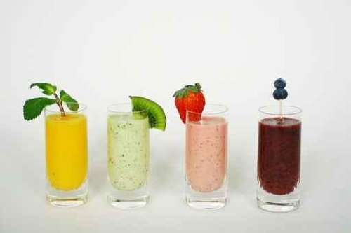Food Wall Decals Row Of Colorful Smoothies - 60 Inches X 40 Inches - Peel And Stick Removable Graphic front-664246