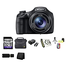 Sony Cyber-shot DSC-HX300 DSCHX300 DSC-HX300/B DSC-HX300V Digital Camera 32GB Package