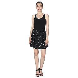 Miway Black Printed Skirt (L)