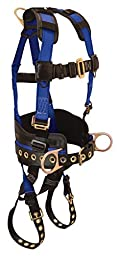 Condor / SinSco - G7078LX - Full Body Harness, L/XL, 425 lb., Blue/Blk