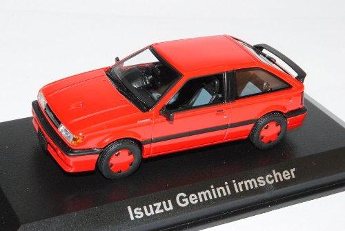 Isuzu GeMini Irmscher 1500 Turbo Vivid Rot 1989 1/43 Norev Modell Auto mit individiuellem Wunschkennzeichen