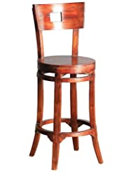 Sterling 6500821 Plumas Wood Bar Stool, 45-Inch, Mahogany Stain by Sterling
