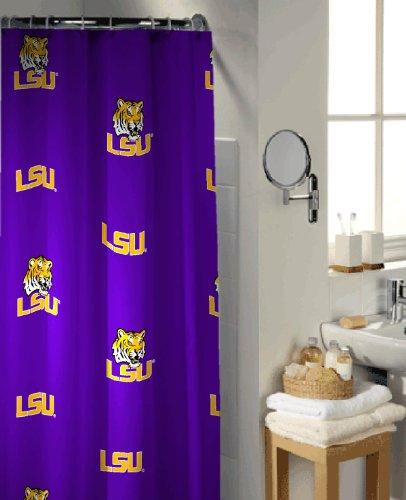 LSU Tigers Shower Curtain Tigers Shower Curtain Tigers