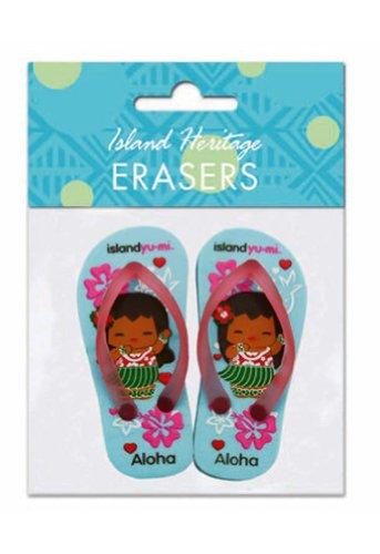 Hawaiian Pencil Erasers Island Yumi Aloha Slippers - 1