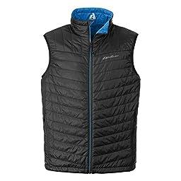 Eddie Bauer Men\'s IgniteLite Reversible Vest, Black L