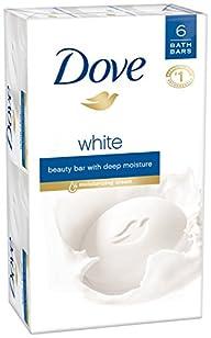 Dove Beauty Bar, White 4 oz, 6 Bar