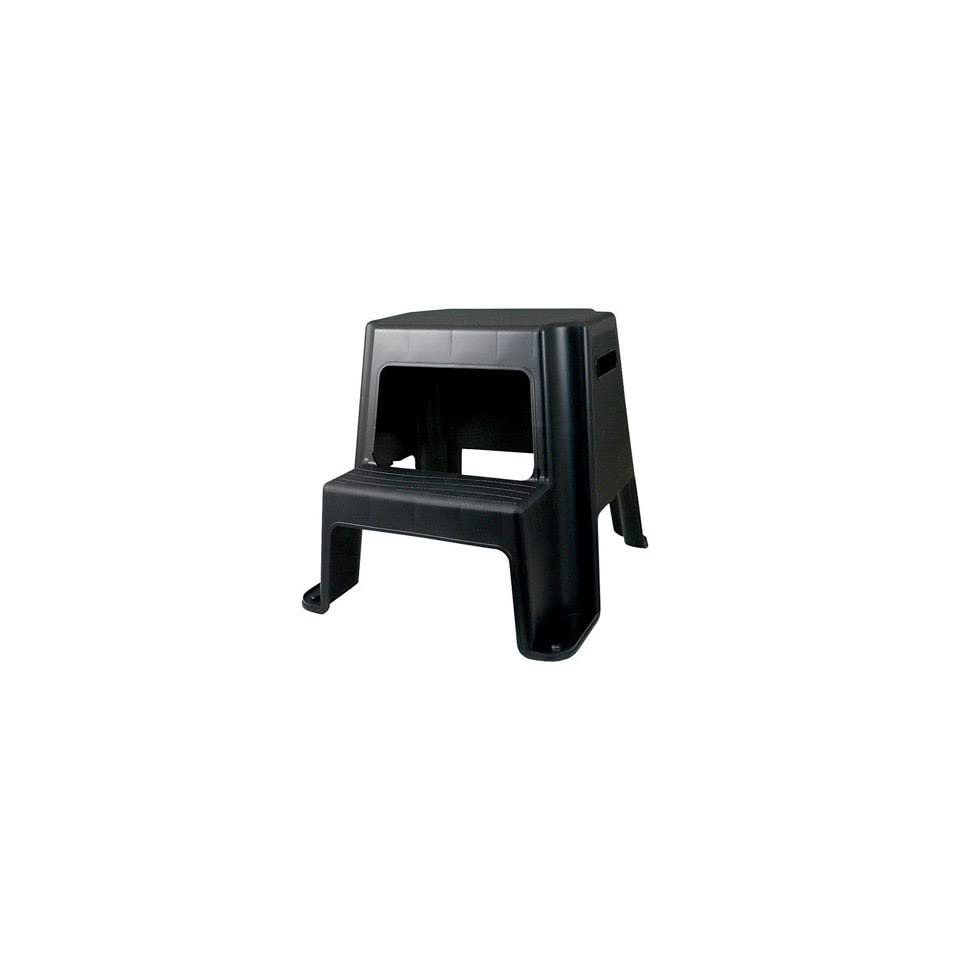 Centrex Plastics Llc 2stpcx Ez Up Two Step Stool Black