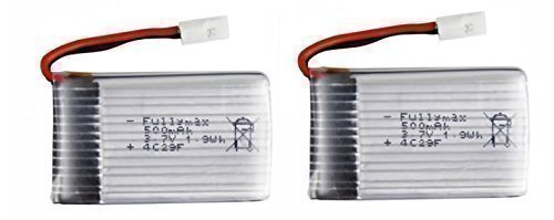 SYMA X5C - 2 Baterías, 3.7 V 500 mAh Li-Po