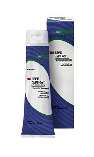 3M ESPE 12106M OMNI Gel 0.4% Stannous Fluoride Brush On Gel Refill, Mint Flavor
