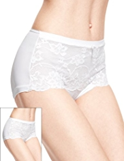 2 Pack Per Una High Rise Jasmine Lace Shorts